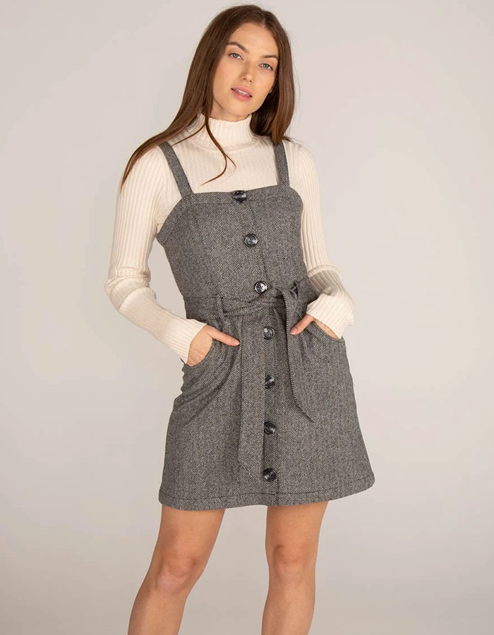 Button down pinafore