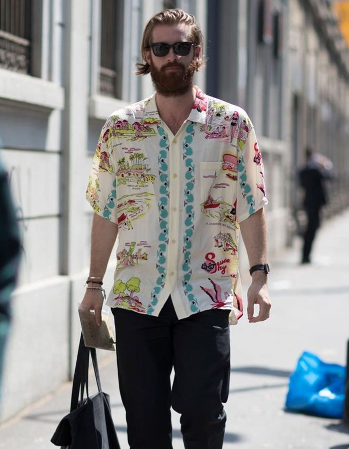 Matched Pocket Hawaiian shirts