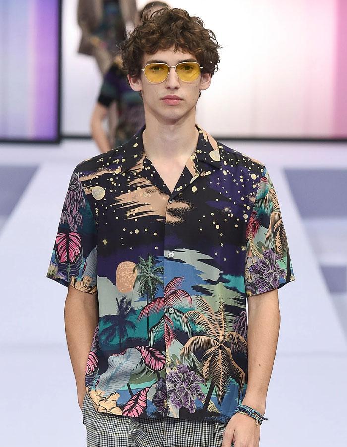 Scenic prints Hawaiian shirts