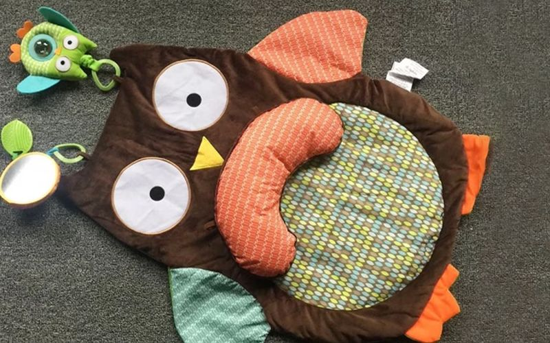 Soft Foldable Baby Owl Play Mat Cover