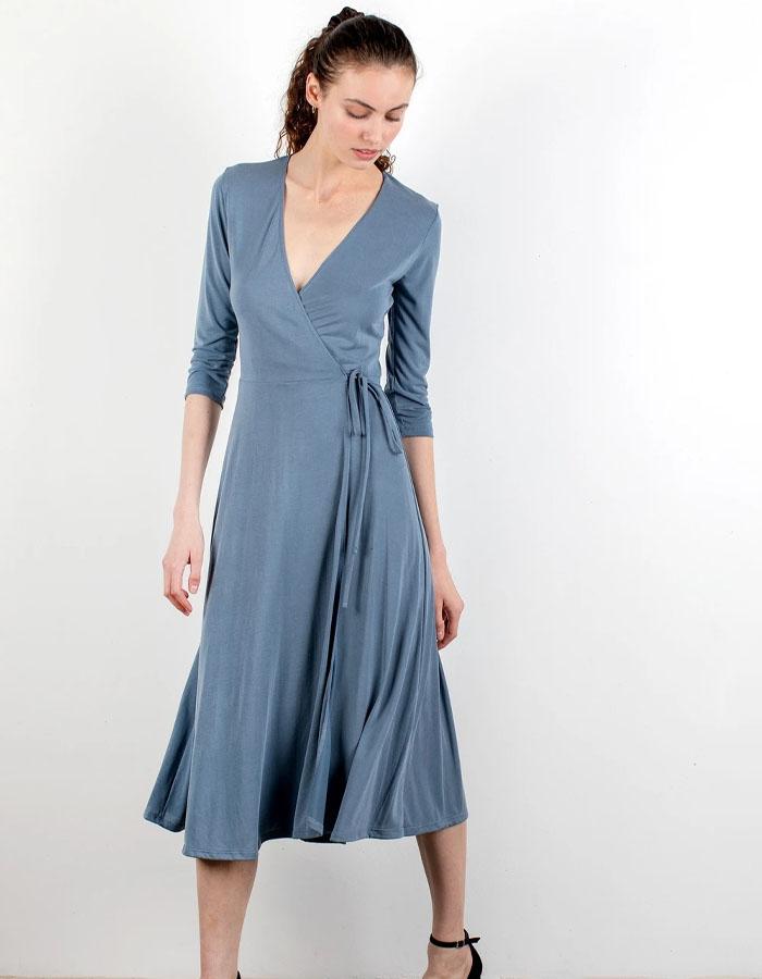 Subtle and soft Wrap dresses