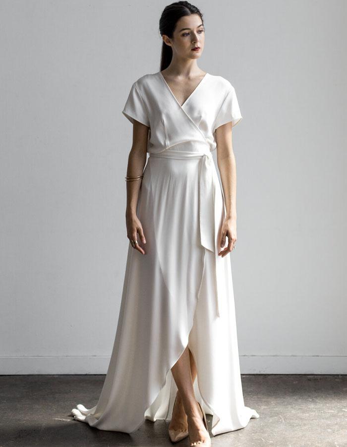 Wedding wrap dresses