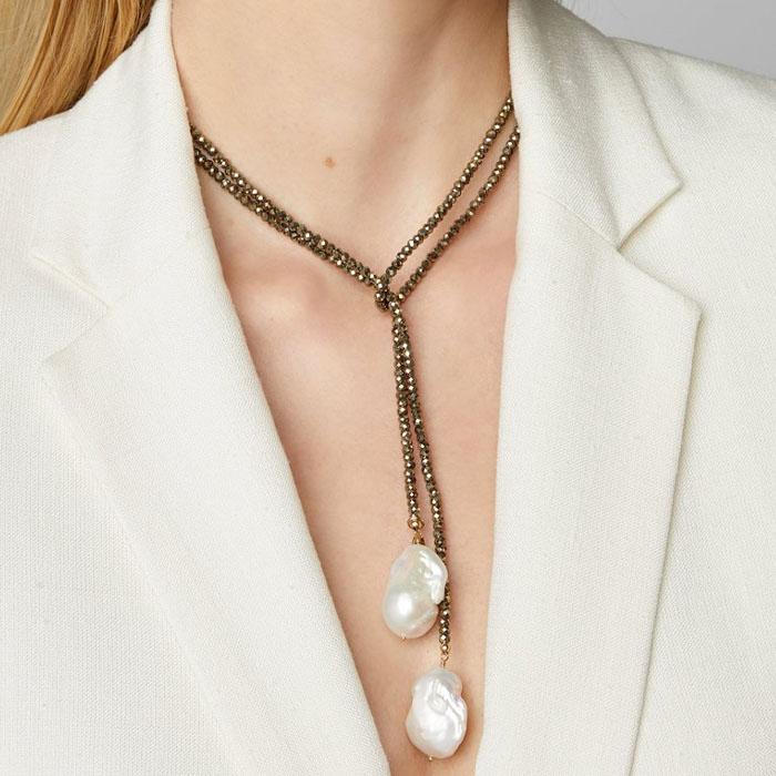 beaded lariat necklace designs