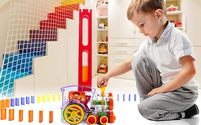 Automatic Domino Train Toy