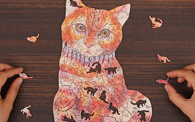 Colorful Animal-shaped Wooden Jigsaw Puzzles