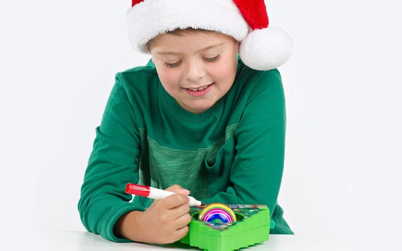 DIY Christmas Tree Ornament Coloring Kit