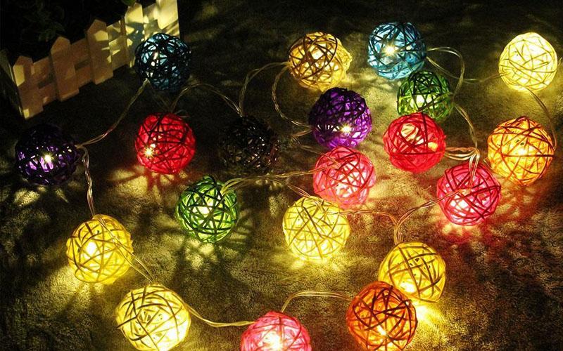 Gold Ball LED String