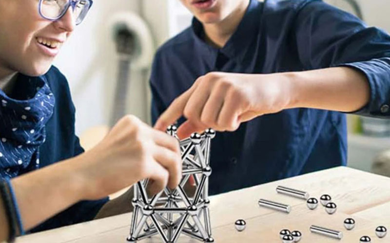 Magical Magnetic Sticks & Balls Building Block Toy Set