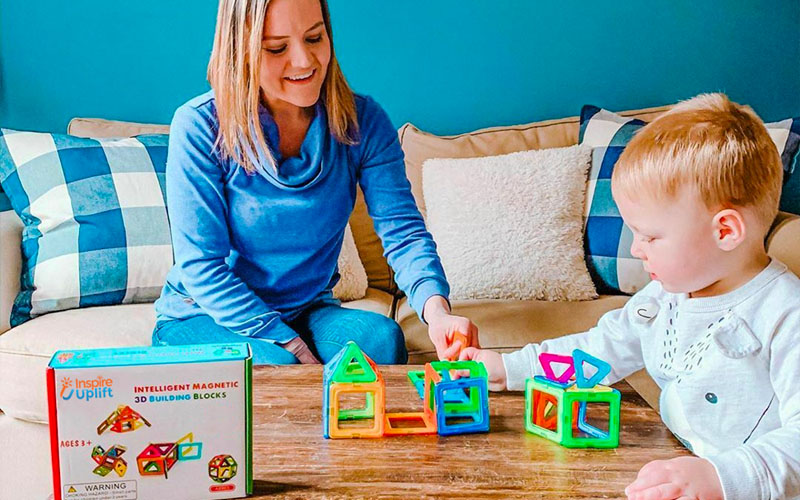 Magnetic Building Blocks For Kids (111 Pieces)