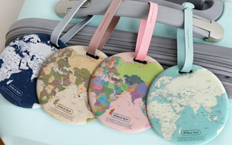 Map Of The World Luggage Tag