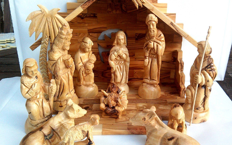 Olive Wood Hand-made Holy Scriptures