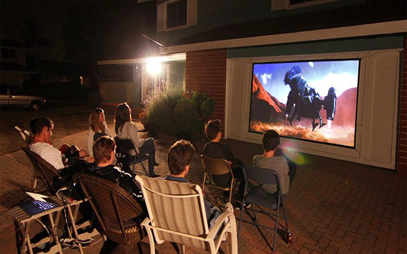 Portable Anti-Light Outdoor Projector Screen