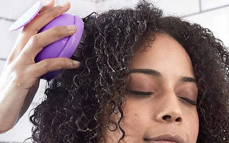 Silicone Scalp Massager Dandruff Remover Brush