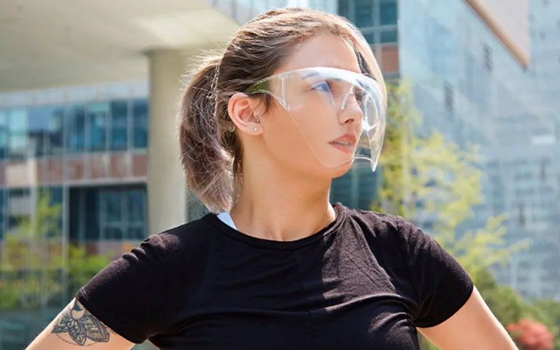 Smart Face Shield With Safety Goggles