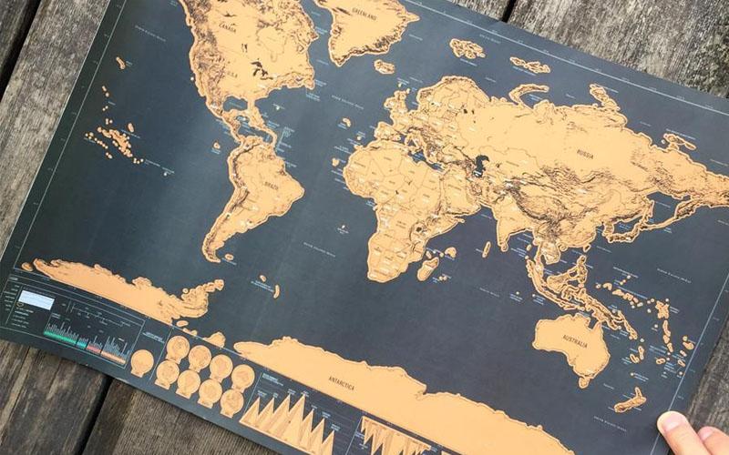 Wanderlust Scratch Off Map