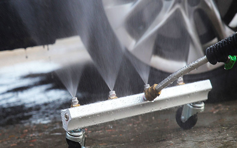 Undercarriage Washer Attachment For Pressure Washing