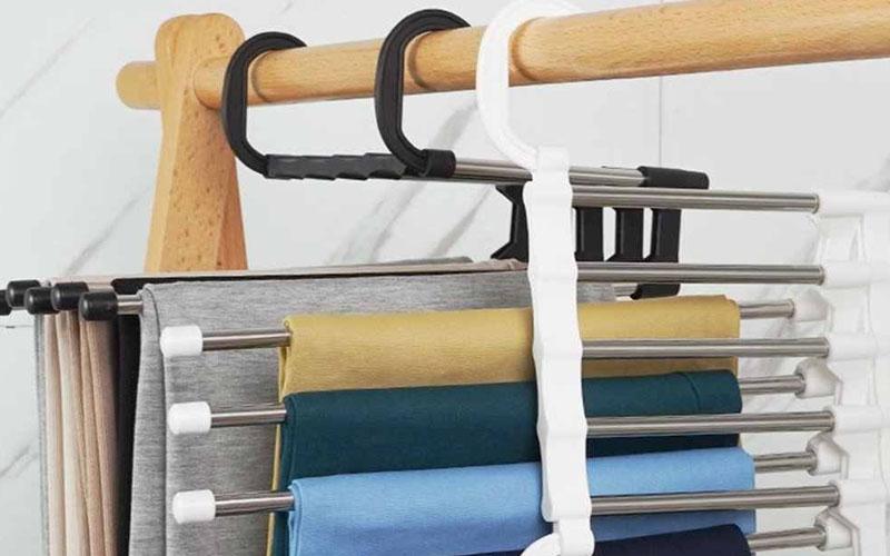 5-In-1 Stainless Steel Multi-Functional Pants Rack Hanger