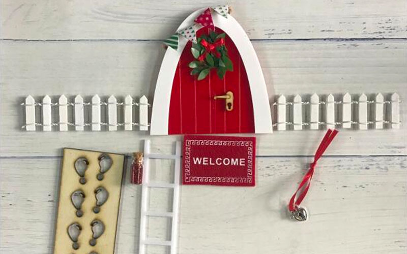 Arch Mini Fairy Door For Wall Toy Set
