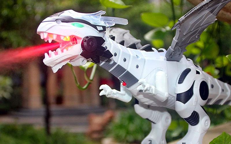 Fire-Breathing Walking Roaring Dragon Toy