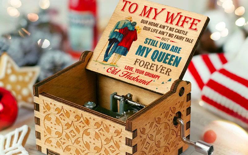 Handcrafted Custom Wooden Music Box