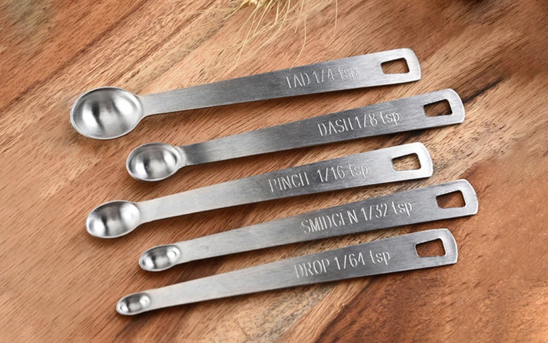 Labelled Mini Measuring Spoons Set of 5