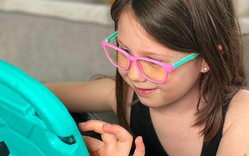 Silicone Flexible Square Blue Light Blocking Glasses For Kids