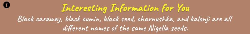 nigella seeds info