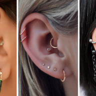 Double Helix Ear Cartilage Piercing