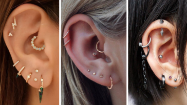 Double Helix Ear Cartilage Piercing