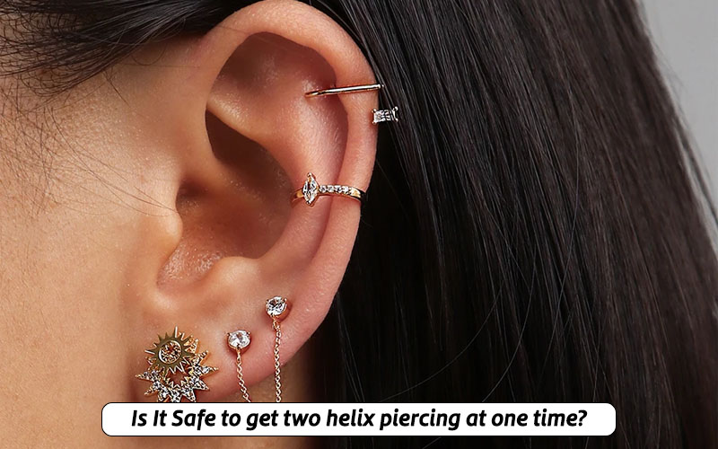 Is double helix piercing safe