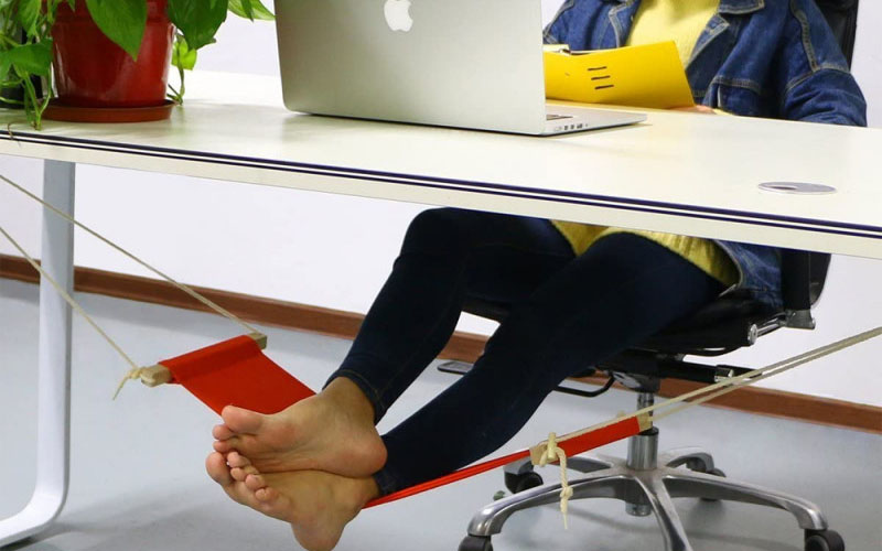 Adjustable Underdesk Foot Hammock