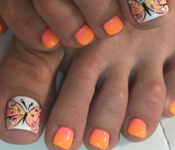 toe nail designs for summer