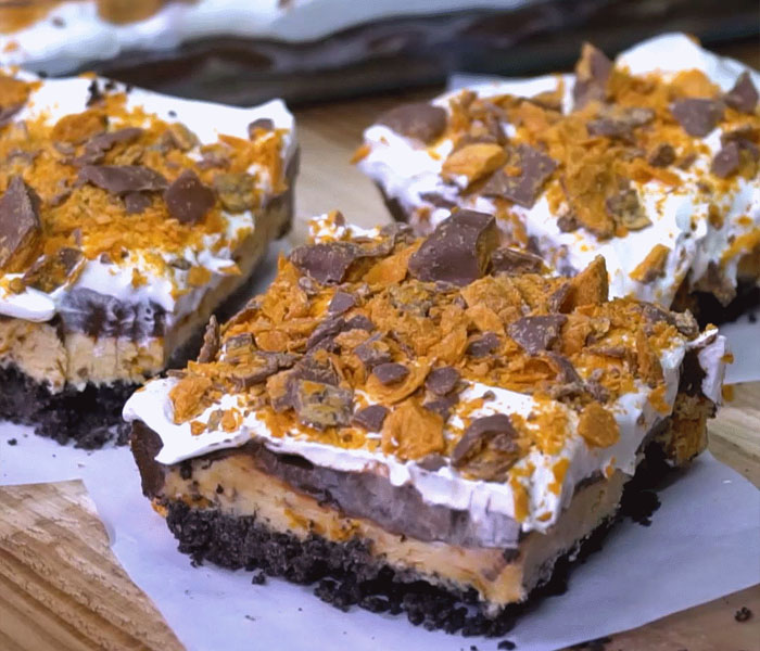 Butter finger Cheesecake brownies
