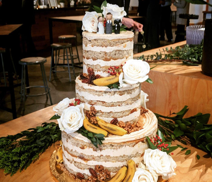 Caramel Banana Wedding Cake