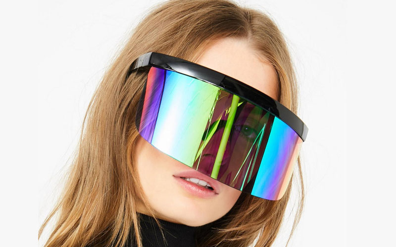 Futuristic Shield Visor Sunglasses
