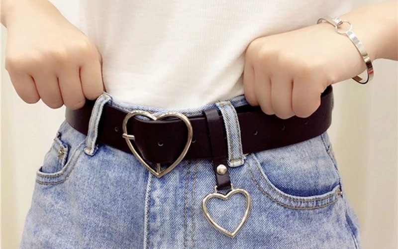 Heart Buckle Belt For Jeans, Shorts & Overcoats