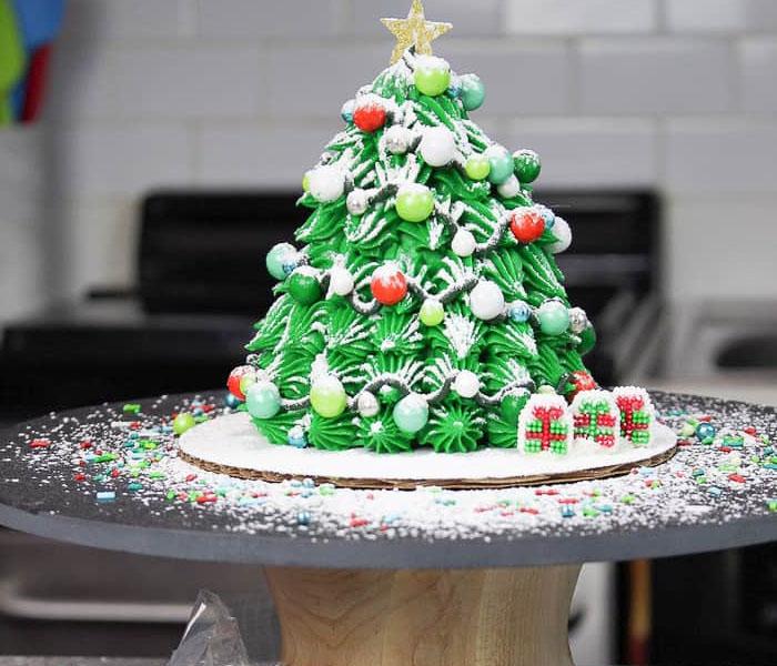 Holiday Christmas Tree cake