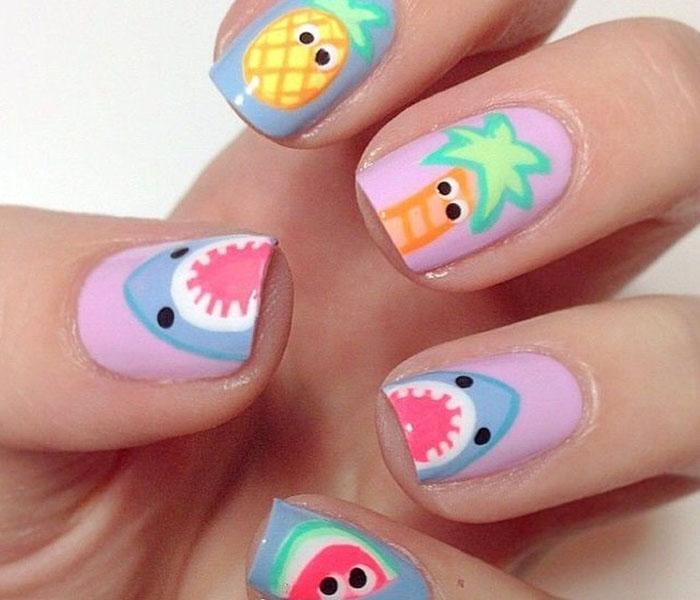 fruit beach nails