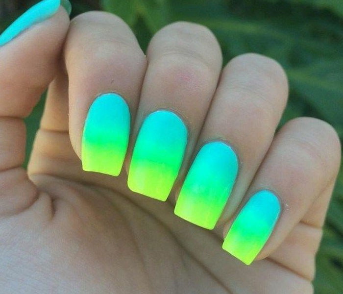 ombre beach nails 2021