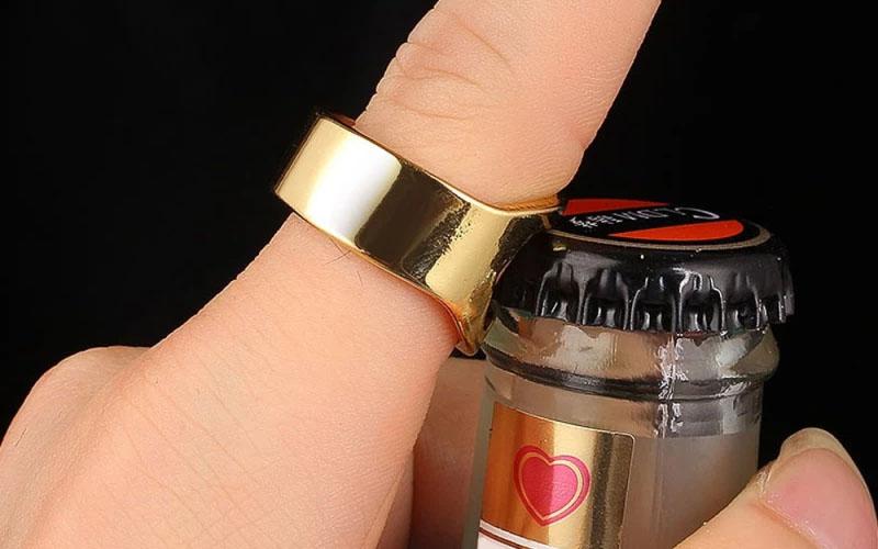 Stainless Steel Bottle Cap Opener Ring