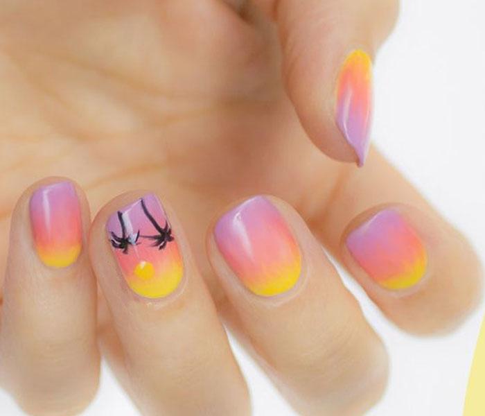 sun nail designs