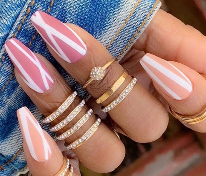 coffin summer nails