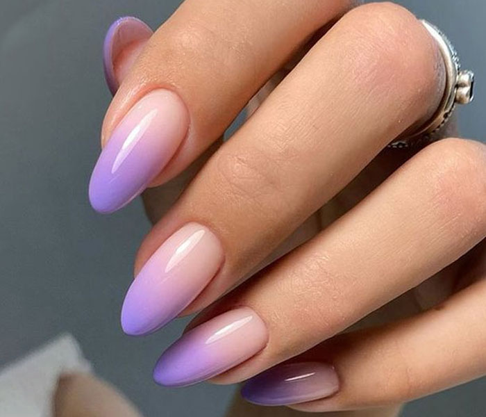 ombre purple nails
