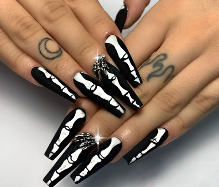 spring nail ideas coffin