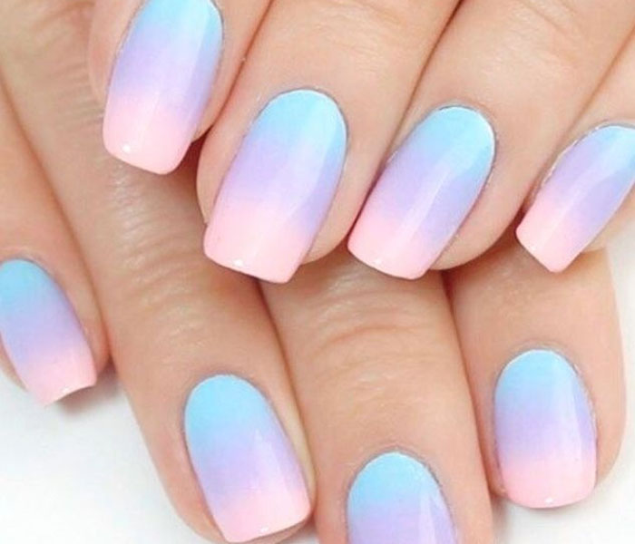 spring ombre nails