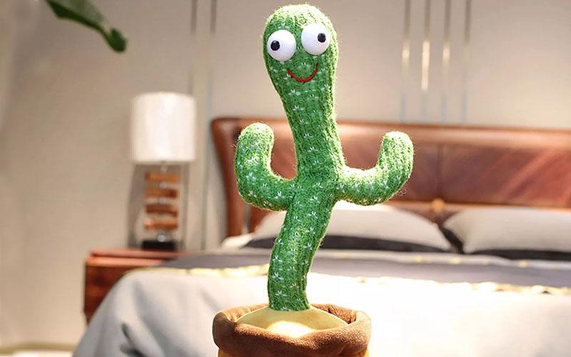 Dancing Cactus Plush Toy In Pot