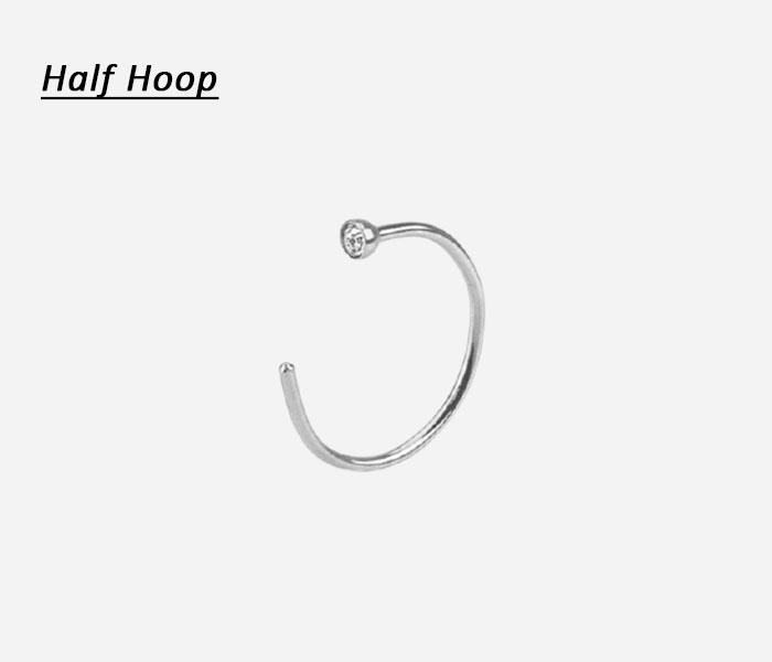 Half Hoop nose rings