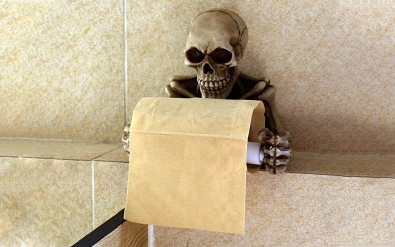 Halloween Skeleton Toilet Paper Holder