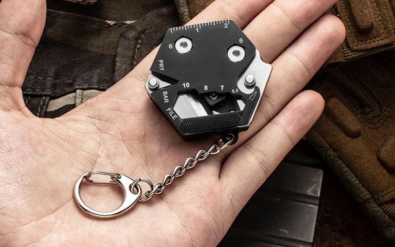 Multifunctional Hexagonal EDC Keychain