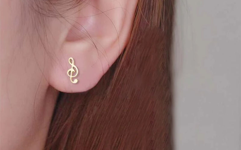 Music Notes Earrings (Different Colors)